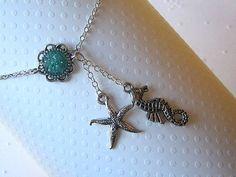 Starfish Ankle Bracelet Starfish Anklet Seahorse by AimeezArtz, $19.00