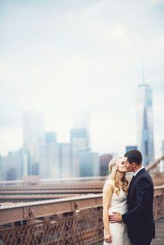 New York wedding: http://www.stylemepretty.com/new-york-weddings/new-york-city/2015/02/17/romantic-new-york-city-elopement/ | Photography: Julie Pepin - http://www.juliepepin.com/