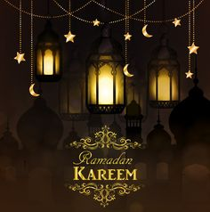 Illustration about Ramadan Kareem, greeting background with hanging stars moons and lights. Illustration of community, festive, decoration - 92001333 Ramadan Kareem Vector, Ramadan Greetings, Hanging Stars, Summer Solstice, Eid Mubarak, Creative, Vector Free, Greeting Cards, Lights