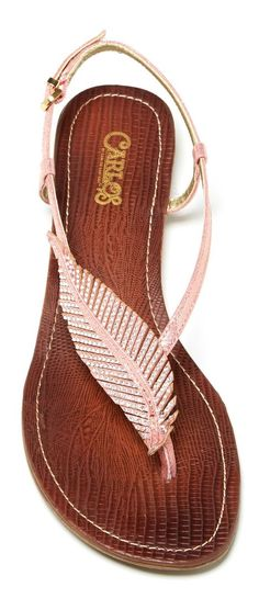 Feather sandal by Carlos Santana. He makes the best shoes and purses. Love him!