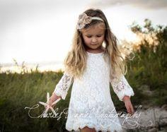Chloe flower girl dress ivory flower girl door DLilesCollection