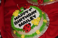 Smash Cake at a Ladybug Party #ladybug #cake