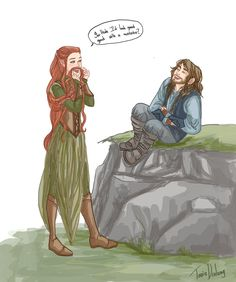 Mustache by Dralamy.deviantart.com on @deviantART .... I don't ship Kiliel, but this is an adorable picture.