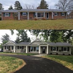 Best Secrets Home Renovation Remodel Your Living Space Ideas Home Remodeling Exterior Is a new custom home out of your price range? Exterior Colonial, Ranch Exterior, Exterior Remodel, Exterior House Colors, Cottage Exterior, Diy Exterior, Bungalow Exterior, Stucco Exterior, Bungalow Homes