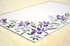 A Handmade Designs Offers Unique Decorative Hand Painted Tablecloths You Can