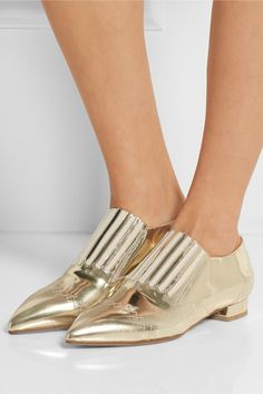 Laurence Dacade | Gaia mirrored-leather loafers