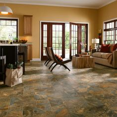 Room Scene for Allegheny Slate Engineered Tile - Copper Mountain D7332