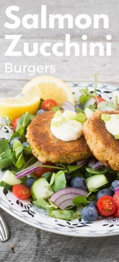 Salmon and Zucchini Burgers transform leftover fish into a quick, elegant, and delicious 30 minute meal ~ theviewfromgreati. Salmon Recipes, Fish Recipes, Seafood Recipes, Beef Recipes, Cooking Recipes, Healthy Recipes, Savoury Recipes, Detox Recipes, Quick Recipes