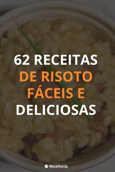 Risotto Receita, Salty Foods, Risotto Recipes, Finger Foods, Good Food, Easy Meals, Food And Drink, Rice, Favorite Recipes