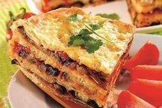 Snacks pie pita bread with eggplant and cheese. Recipes with photos.
