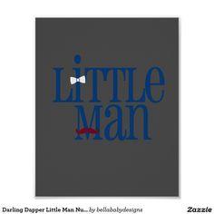 Darling Dapper Little Man Nursery Wall Art Poster