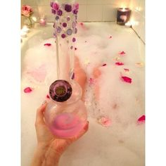 Jewels: bong pink roses pipe kush weed nail accessories ❤ liked on Polyvore