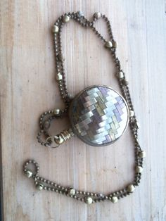 Beautiful Vintage Brass and Silver Bottle by bettyrayvintage, $44.00