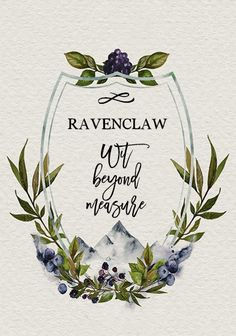 Ravenclaw - Hogwarts houses as floral crests Arte Do Harry Potter, Harry Potter Houses, Harry Potter Love, Harry Potter Universal, Harry Potter World, Ravenclaw, Planners, Mischief Managed, Crests