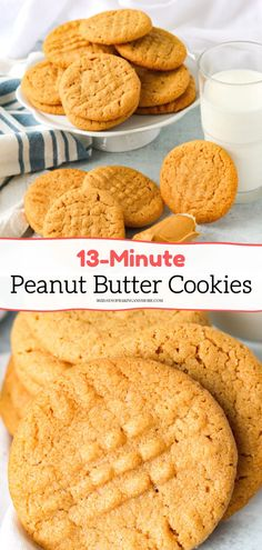The 3 Ingredient, 13 Minute Peanut Butter Cookies are not your typical peanut butter cookie because they're made with only three ingredients and are ready in just thirteen minutes! They're the perfect thing to make when you need something sweet to eat or have little ones wanting a quick snack. Best Cookie Recipes, Baking Recipes, Peanut Butter Cookies 3 Ingredient Recipe, Good Food, Yummy Food, Easy Family Meals, Quick Snacks, Something Sweet, 3 Ingredients