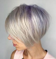 visit for more Gray Bob With Lavender Roots The post Gray Bob With Lavender Roots appeared first on kurzhaarfrisuren. Bobs For Thin Hair, Short Hair With Layers, Short Hair Cuts, Short Hair Styles, Short Fine Hair, Bob Hairstyles For Fine Hair, Messy Hairstyles, Layered Hairstyles, Men's Hairstyle