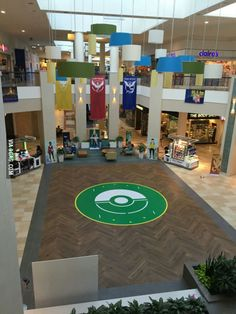 This mall is a Pokemon Gym so it turned its lobby into a Pokemon Arena.