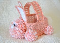 crochet easter, bunni basket, crochet pasen, beauti, thing bright
