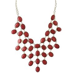 Charlotte Russe Faceted Stone Statement Necklace (370 RUB) ❤ liked on Polyvore featuring jewelry, necklaces, coral, bib necklaces, bib statement necklace, charlotte russe, charlotte russe necklaces and statement necklaces