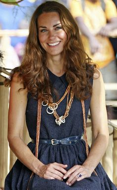 """Notably more laid back style for the Duchess; but lovely as ever.    """"Kate Middleton natural hair waives"""""""