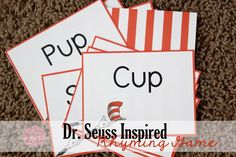 Dr. Seuss Inspired Rhyming Game -- Make learning fun over the summer with this free printable game!