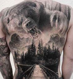 Big Back Tattoo - Best Back Tattoos For Men: Cool Back Tattoo Designs For Guys -. - Big Back Tattoo – Best Back Tattoos For Men: Cool Back Tattoo Designs For Guys – Men's Upper, - 3d Tattoos For Men, Tattoos For Guys Badass, Cool Back Tattoos, Trendy Tattoos, Unique Tattoos, Men Back Tattoos, Tatoo Ideas For Guys, Back Tattoos For Guys Upper, Tatto For Men
