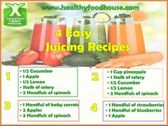 4 Easy Juicing Recipes