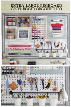 Extra Large Pegboard for Craft Room Organization #craftroom #organization   #pegboard