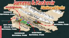 National Parks in Jammu Kashmir with detailed map National Parks, Map, Location Map, Maps