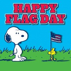 Happy Flag Day! #Snoopy #Peanuts