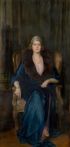 Queen Maria Karađorđević, Paja Jovanović, 1922  Oil on canvas, 210 cm x 102 cm. Belgrade City Museum, Serbia