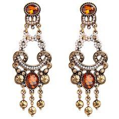 Her Velvet Vase Orange Pearl Earrings ($28) ❤ liked on Polyvore featuring jewelry, earrings, multi colored, colorful jewelry, colorful earrings, tri color earrings, pearl drop earrings and tri color jewelry