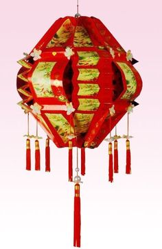 How to Make a Chinese Lantern from hong bao - 44 ang pow  http://www.chinahighlights.com/travelguide/special-report/chinese-new-year/lantern.htm