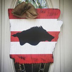 Razorback door hanger Hogs Door Hanger by KaleyLakayeKrafts & Arkansas