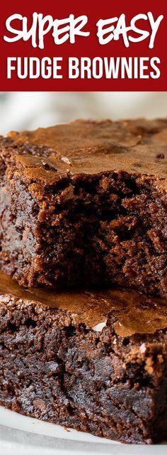 Brownies Caramel, Homemade Fudge Brownies, Cake Like Brownies, Beste Brownies, Easy Fudge, Chocolate Fudge Brownies, Easy Brownies, Recipe For Brownies, Homemade Brownie Recipes
