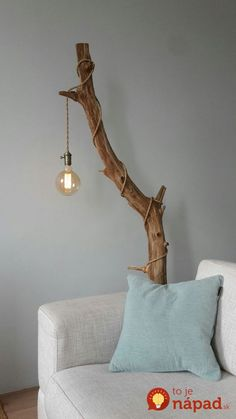 cover a stained tree branch with an industrial pendant light with a cord and a l. - cover a stained tree branch with an industrial pendant light with a cord and a l. cover a stained tree branch with an industrial pendant light with . Decor Room, Diy Home Decor, Bedroom Decor, Handmade Home Decor, Homemade Room Decorations, Home Decor Lights, Handmade Decorations, Home Lighting, Lighting Ideas