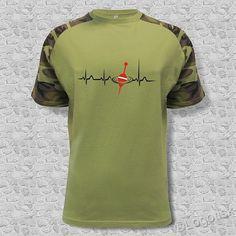 Pánské tričko pro rybáře s potiskem EKG křivka a splávek Mens Tops, T Shirt, Fashion, Supreme T Shirt, Moda, Tee Shirt, Fashion Styles, Fashion Illustrations, Tee