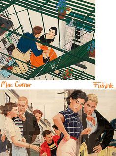 Fishink in London. Part McCauley ' Mac' Conner Paintings from the MadMen era