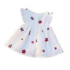 Paker Baby Girls Flower Dress Sleeveless Vest Dresses Toddler Lace Sundress Skirt 36 months Flower ** Click image for more details.
