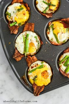 Paleo Egg Cups are the perfect breakfast to start off your day. Loads of protein, with fresh asparagus makes this gluten free, grain free, nut free, paleo and whole30 friendly   ahealthylifeforme.com