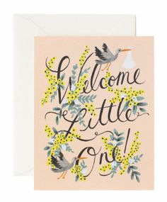 Welcome Little One Greeting Card by Rifle Paper Co