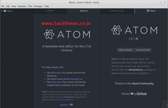 How to Install Atom Text Editor on Linux http://www.hackthesec.co.in/2016/06/how-to-install-atom-text-editor-on-linux.html