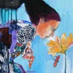 smelling the flower by FotininHamidieli