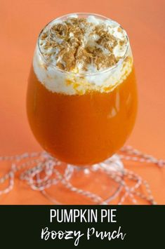 This creamy delicious Pumpkin Pie Boozy Punch is the perfect fall boozy drink for adults. Also, it's a fun and festive drink that's excellent for serving at Halloween parties and Thanksgiving gatherings. Pumpkin Cocktail, Pumpkin Drinks, Pumpkin Dessert, Pumpkin Recipes, Thanksgiving Punch, Thanksgiving Recipes, Fall Recipes, Delicious Recipes, Sweet Recipes
