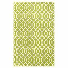 "Anchor your living room or master suite with this stylish hand-tufted wool rug, showcasing an eye-catching geometric motif in green and ivory. $72   Product: RugConstruction Material: 100% WoolColor: Lime green and ivoryFeatures:  Hand-tuftedMade in India Plush pile    Pile Height: 0.4""  Note: Please be aware that actual colors may vary from those shown on your screen. Accent rugs may also not show the entire pattern that the corresponding area rugs have.Cleaning and Care: Vacuum regularly…"