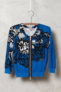 Delphinium Cropped Cardigan by Tracy Reese #anthrofave #anthropologie