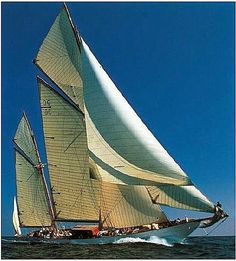 Old Sailing Ships, Classic Wooden Yacht