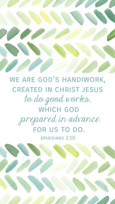 "Ephesians 2:10 called to, not saved by. We are created to do ""good works"" to point others back to Jesus. Live a life worthy of the Lord and please Him in every good work Colossians 1:9-13. Note that Paul never refers to ""good works"" as the law ""works."""