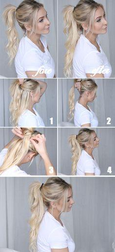 Längre hästsvans UTAN hårförlängning, 4 enkla steg!