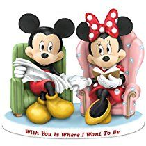 "Disney ""With You Is Where I Want To Be"" Mickey N Minnie Collectible Figurine by The Hamilton Collection"